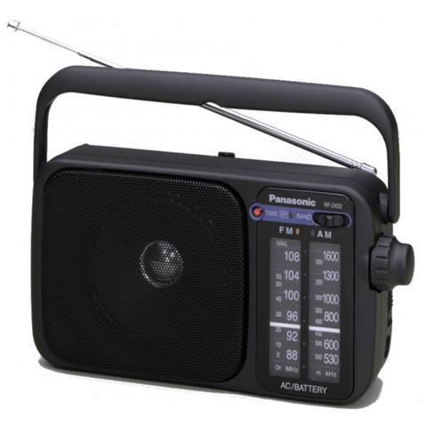 PANASONIC RF-2400D Portatile Analogico Nero radio