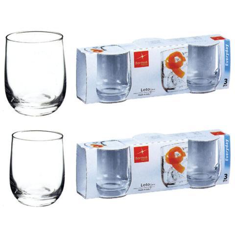 BORMIOLI Confezione 3 Pezzi Bicchiere da Acqua - Linea Loto