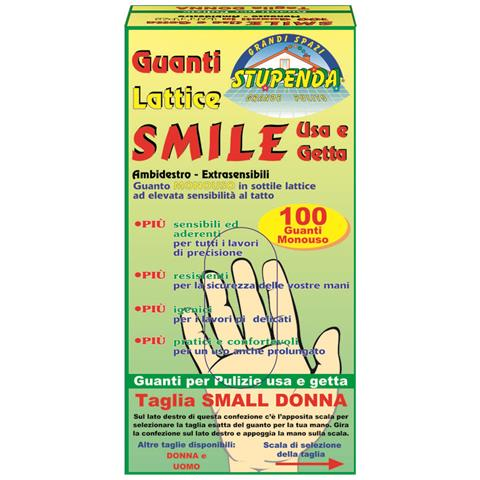 LA BRIANTINA Guanti Smile Usa E Getta 100 Pezzi Small