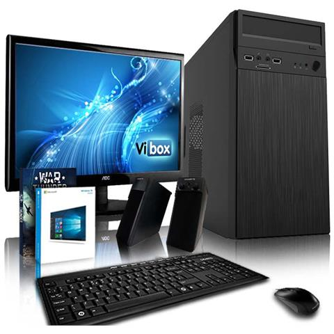 Image of Alpha Pc Pacchetto 8 Gamer Pc - 3,9ghz Amd 2-core Cpu, Desktop Gaming Pc 19'' Monitor, Tastiera E Mouse, Windows 10 Os, (a4 Dual 2-core Processore, 4gb Memoria Ram, 500gb Hard-disk, 150mbs Wifi Adattatore)