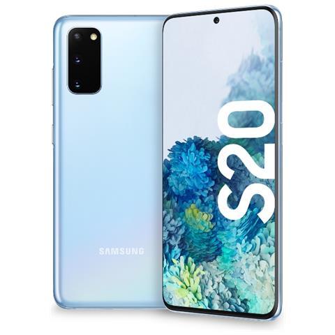Galaxy S20 5G Cloud Blue 128 GB Display 6.2'' QHD+ Slot Micro SD Tripla Fotocamera Android...