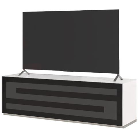 "MUNARI Mobile Porta per TV fino a 60"" Rainbow RA 152 Bianco – Nero"