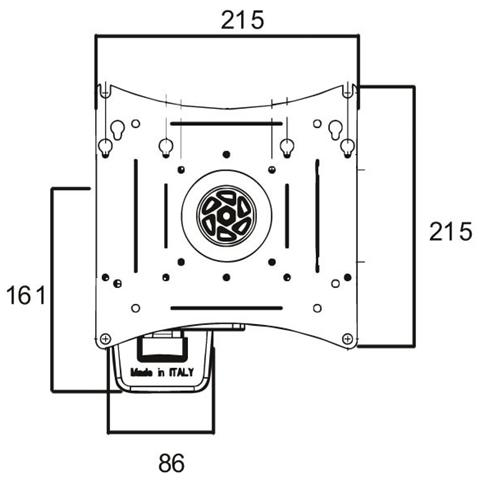 ITB Wall Mount 2joints 200x200 360rotation .