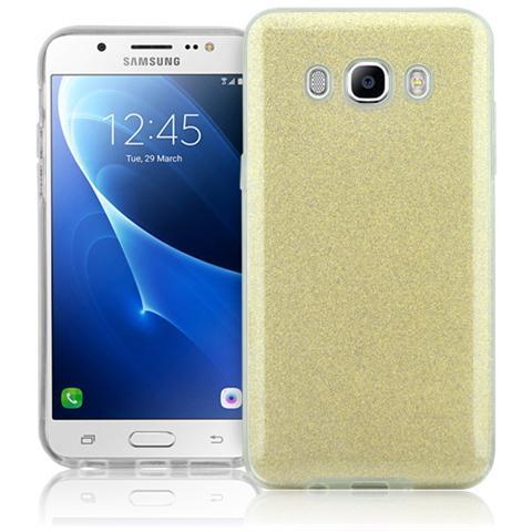 FONEX Chic Soft Cover in Morbido TPU con 3 Card Glitterate per Samsung Galaxy J7 (6)
