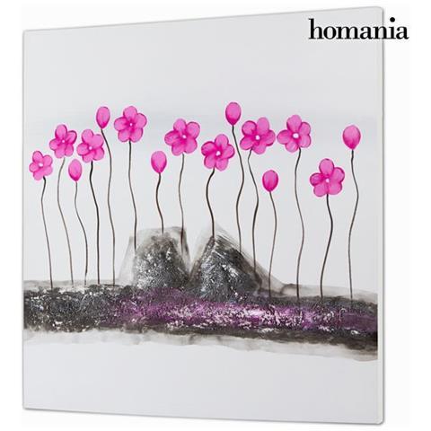 Homania Dipinto Olio Fiori By