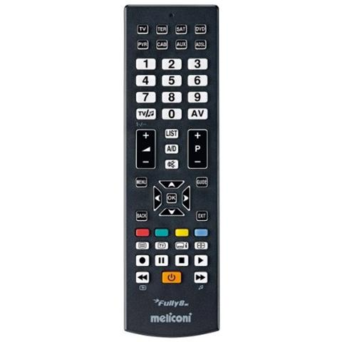 MELICONI Telecomando Pre Programmato 8 in 1 per TV Fully 8 RC