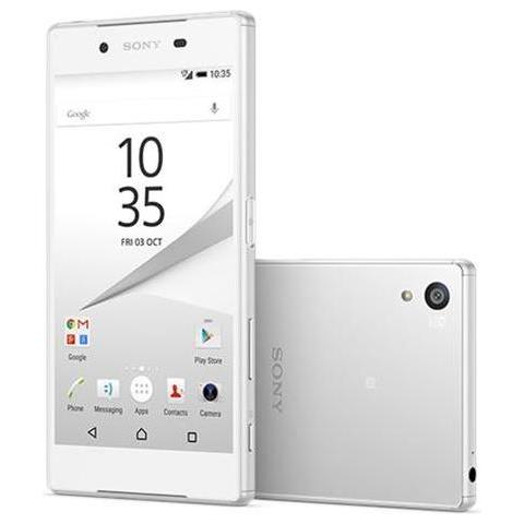 "SONY Xperia Z5 Bianco 32 GB 4G / LTE Dual Sim Impermeabile Display 5.2"" Full HD Slot Micro SD Fotocamera 23 Mpx Android Europa"