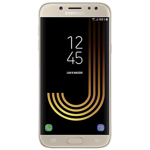 "SAMSUNG Galaxy J7 (2017) Oro 16 GB 4G / LTE Dual Sim Display 5.5"" Full HD Slot Micro SD Fotocamera 13 Mpx Android Italia"