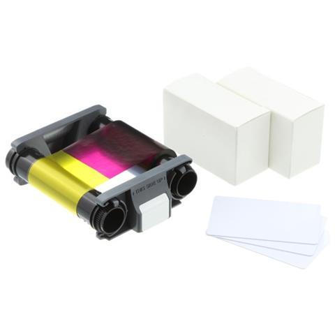 Pack consumabili Nastro a colori YMCKO con 100 badge in PVC