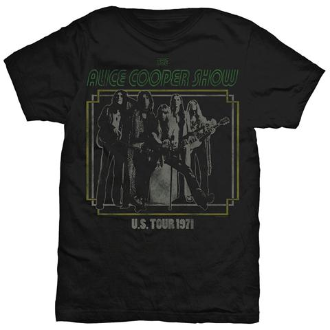 ROCK OFF Alice Cooper - Us Tour 1971 Black (T-Shirt Unisex Tg. M)