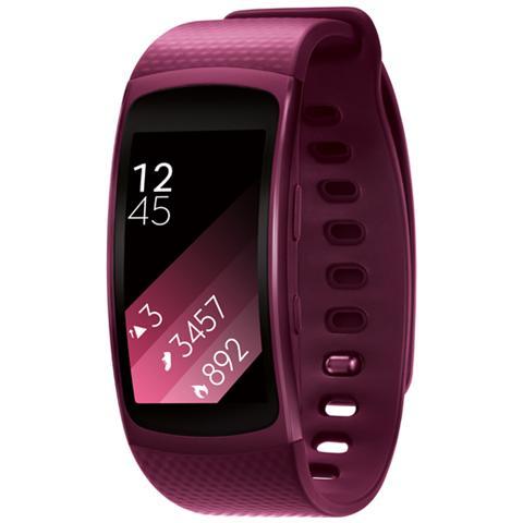 "SAMSUNG Gear Fit2 Impermeabile Misura L Display 1.5"" Memoria 4GB Wi-Fi Bluetooth funzione Personal Trainer GPS + Lettore Musicale per Android - Rosa"