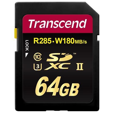 Scheda di Memoria SDXC 64 GB UHS-II di Classe 10 Velocità 285 MB / s