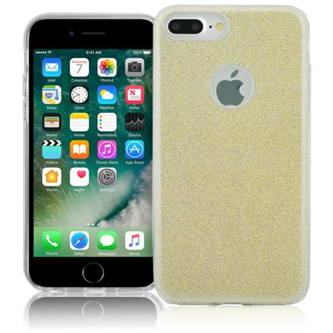 FONEX Chic Soft Cover in Morbido TPU con 3 Card Glitterate per Apple iPhone 7 Plus
