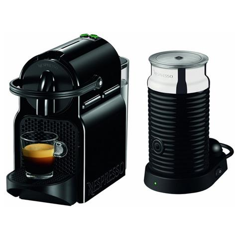 EN80. BAE Inissia + Aeroccino Nespresso Macchina da Caffè con Montalatte Capacità 0.7 Litri Potenza 1260 Watt Colore Nero