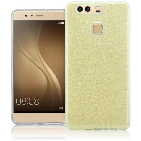 FONEX Chic Soft Cover in Morbido TPU con 3 Card Glitterate per Huawei P9