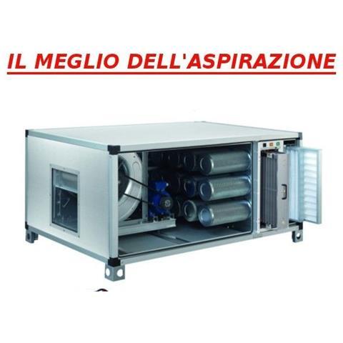 Centralina Di Deodorizzazione E Filtrazione Al Carbone Attivo Trifase Con Filtro Elettrostatico Cassonato