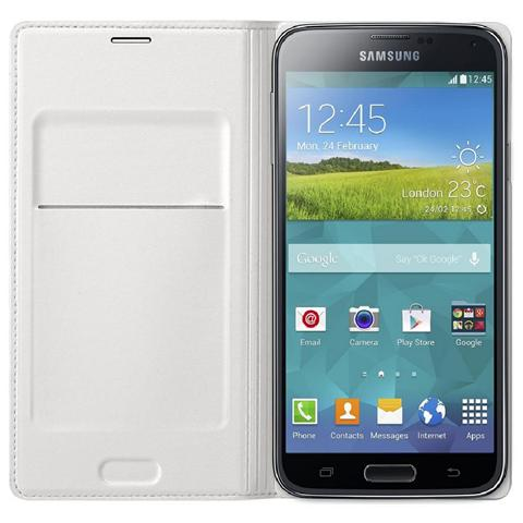 SAMSUNG Cover Flip Wallet White Galaxy S5
