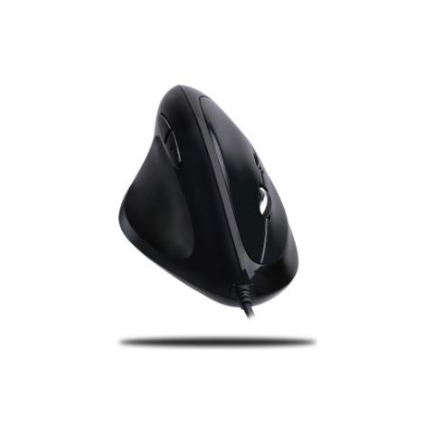 iMouse E7 USB Ottico 6400DPI Mancino Nero mouse