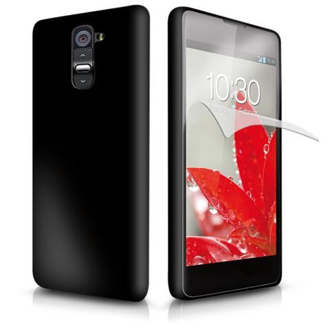 SBS TEAEROOPTG2K SMARTPHONE Cover Aero in TPU, colore Nero, pellicola protettiva inclusa per LG Optimus G2