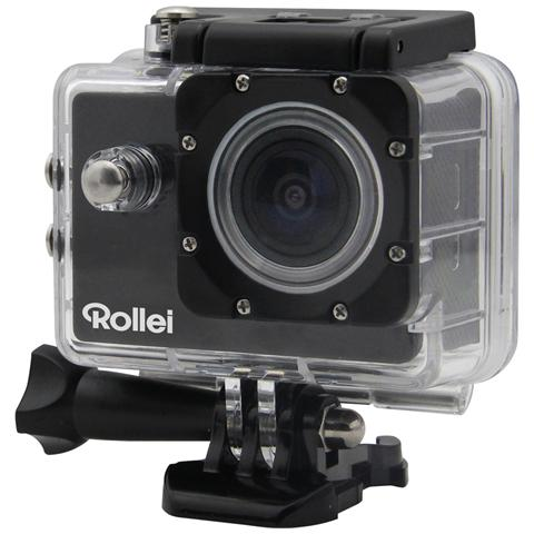 ROLLEI Action Cam 300 Sensore HD Ready Impermeabile Antiurto + Kit Accessori - Nero
