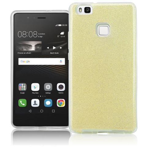FONEX Chic Soft Cover in Morbido TPU con 3 Card Glitterate per Huawei P9 Lite