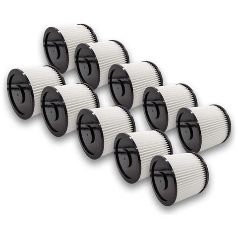 10x Filtro Rotondo Per Aspirapolvere Multiuso Aqua Vac Hobby 11, 22, 24, 33, 36, 44, 1000