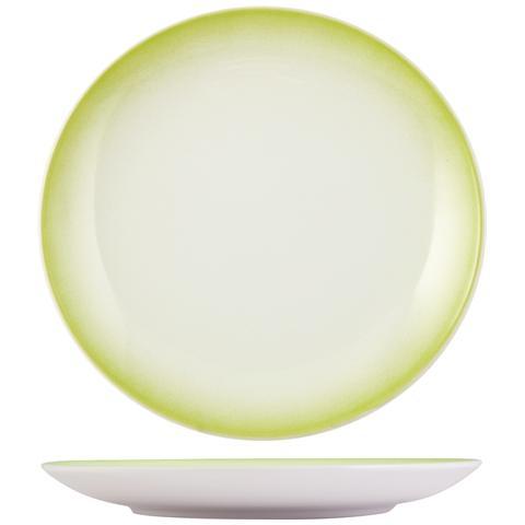 H&H Piatto Ceramica Kami Lime Tavola Piano 27 Stoviglie