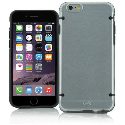 FONEX Mellow Cover in Morbido TPU per iPhone 6 Plus / 6S Plus Colore Trasparente / Nero