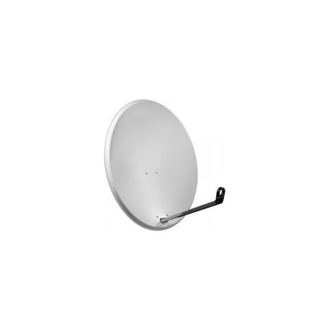 Goobay Wentronic SAT Spieg. 80er Alu, 10.7 - 12.75 GHz, 38,8 dBi, 80 cm, 3,8 kg, Grigio, Alluminio