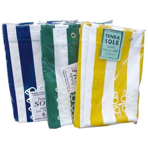 Tenda da sole in cotone telato 290x290 cm colore: Bianco / Verde