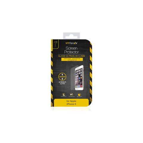 FONEX Protezione Schermo in Vetro Temperato Ultra Sottile 0,2 mm per iPhone 6/6S (1Pz)