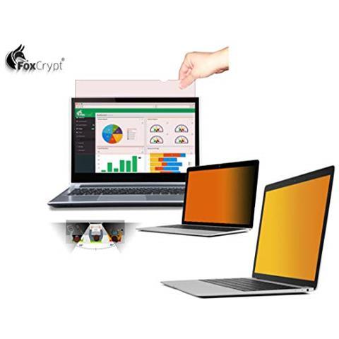 Foxcrypt Gold Premium - Pellicola Protettiva Privacy Per Laptop, 17.3'''' (16:9), Colore:...