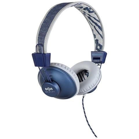 THE HOUSE OF MARLEY Cuffie On-Ear Positive Vibration con Cavo colore Jeans