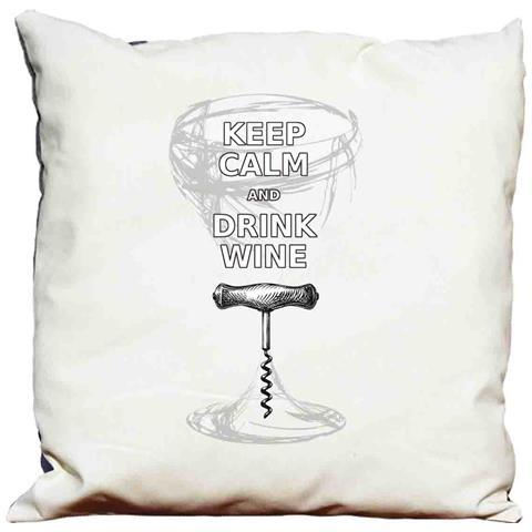 Cuscino Decorativo Keep Calm And Drink Wine 2