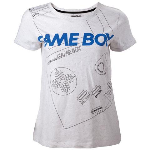 BIOWORLD Nintendo - Gameboy Line Grey (T-Shirt Donna Tg. XS)