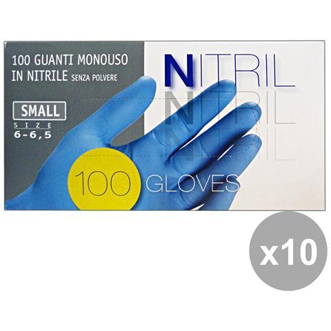 GNP Set 10 Guanti X 100 Nitrile S Giardinaggio