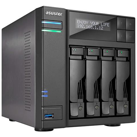 """NAS AS6404T con 4 Slot 3.5'' / 2.5"""" Sata III 2 Porte Gigabit Ethernet (RJ-45) / 4 x USB 3...."""