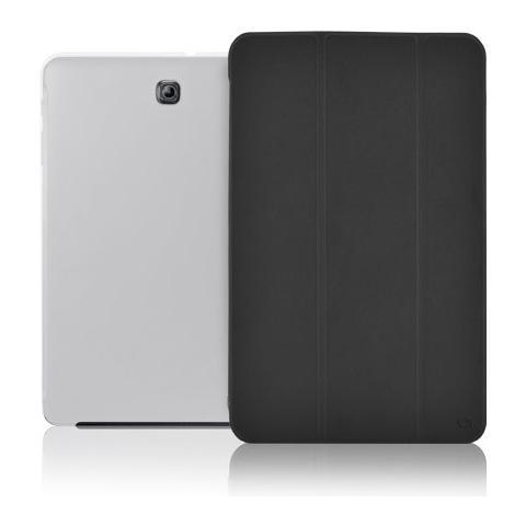 """FONEX Crystal Slim Custodia a Libro con Back Trasparente per Galaxy Tab S2 8"""" Colore Nero"""