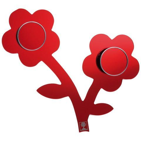 FOPPAPEDRETTI Modulo Appendiabiti Componibile - Modello Appendifiore Rosso