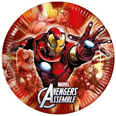 marvel comics Avengers Assemble 8 Piatti A Tema Iron Man
