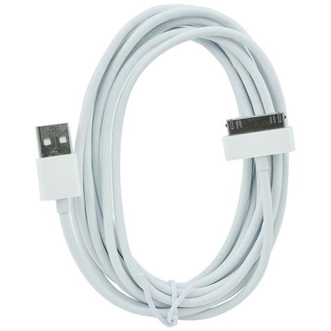 P.t.h.Gsm Cavo Usb Iphone 3g / 3gs / 4g / ipad / ipod - Ios 8.4 - 2m Bianco