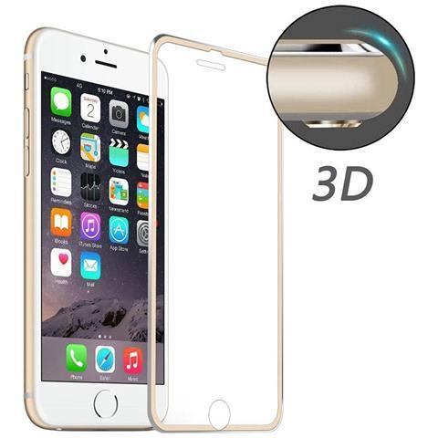 NetworkShop Pellicola In Vetro Temperato 3d Per Schermo Iphone 7 Bordo Curvo Gold