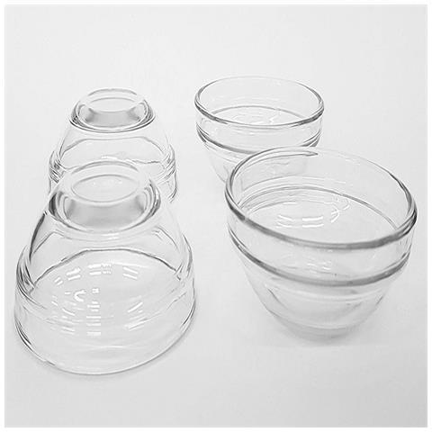 Set 4pz Antipastiera Ciotole Bowls 7.5 Cm Vetro Finger Food Snack Aperitivo