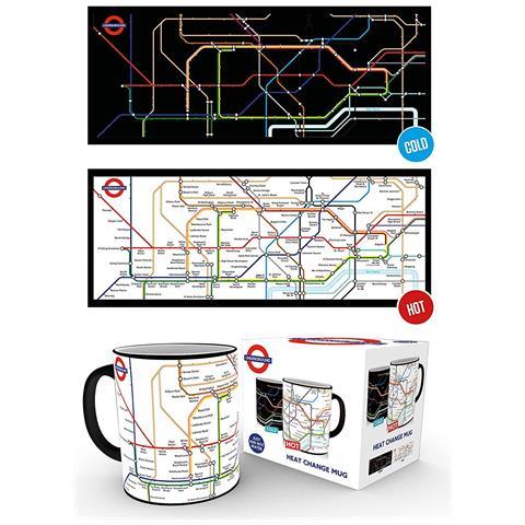 Tazza Termosensibile Con La Mappa Della Metropolitana Di Londra (taglia Unica) (multicolore)