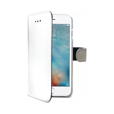 CELLY Flip Cover Custodia Wally in pelle per iPhone 7 Plus - Bianco