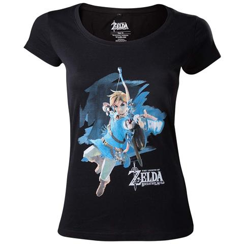 BIOWORLD Zelda Breath Of The Wild - Link With Arrow (T-Shirt Donna Tg. S)