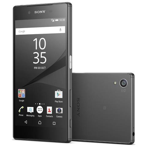 "SONY Xperia Z5 Nero 32 GB 4G / LTE Dual Sim Impermeabile Display 5.2"" Full HD Slot Micro SD Fotocamera 23 Mpx Android Europa"