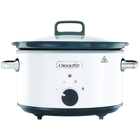 Slow Cooker Pentola Per Cottura Lenta Capienza 3,5 Litri Colore Bianco