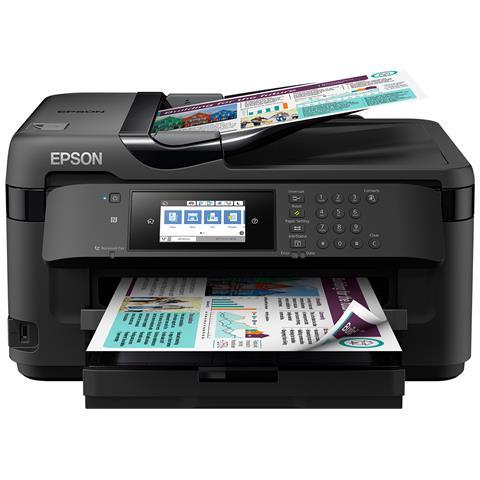 Stampante Multifunzione WorkForce WF-7710DWF Inkjet a Colori A3 Stampa Copia Scansione Fax...