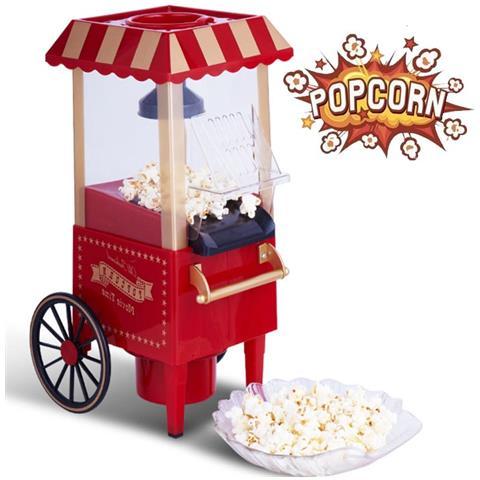 Carretto Macchina Pop Corn Popcorn Retrò Luna Park Vintage Senza Olio 1200w Bk85